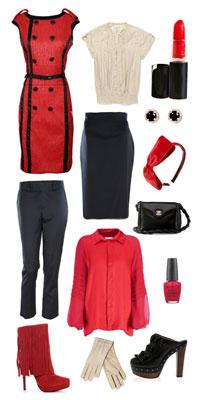 красно-черная одежда